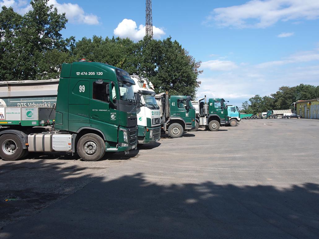 Areál DTS Vrbenský, a.s. - vozový park